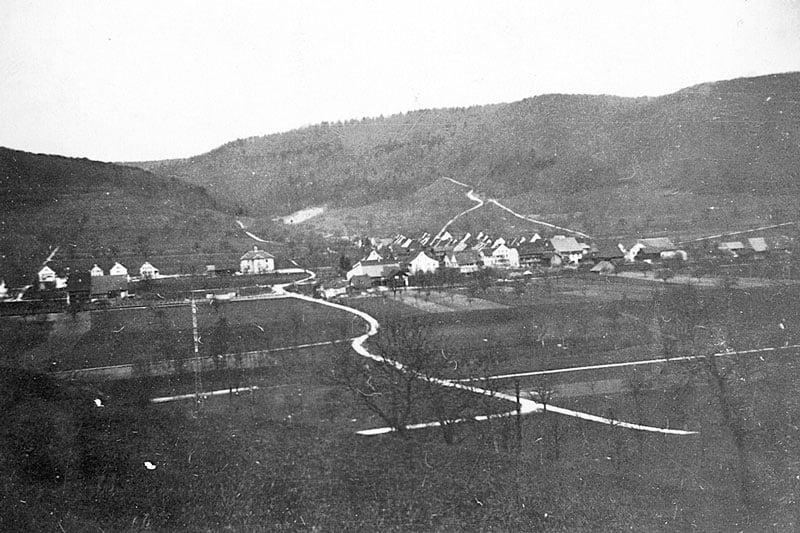 ca. 1950 Blick vom Sonnenberg nach Süden