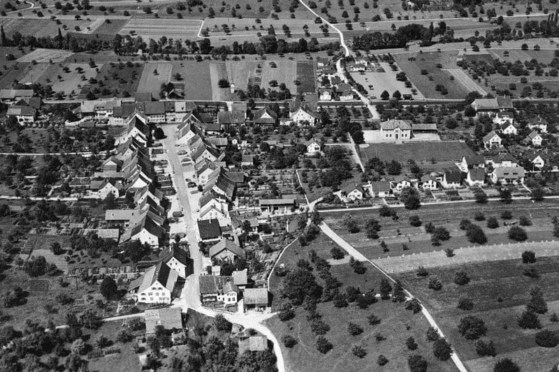 ca. 1955 Flugaufnahme von Süden